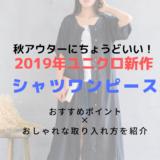 【2019年秋】ユニクロ新作シャツワンピースはどんな人におすすめ?お手本コーデまとめ