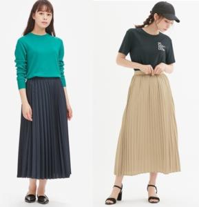 ユニクロとGUのプリーツスカート