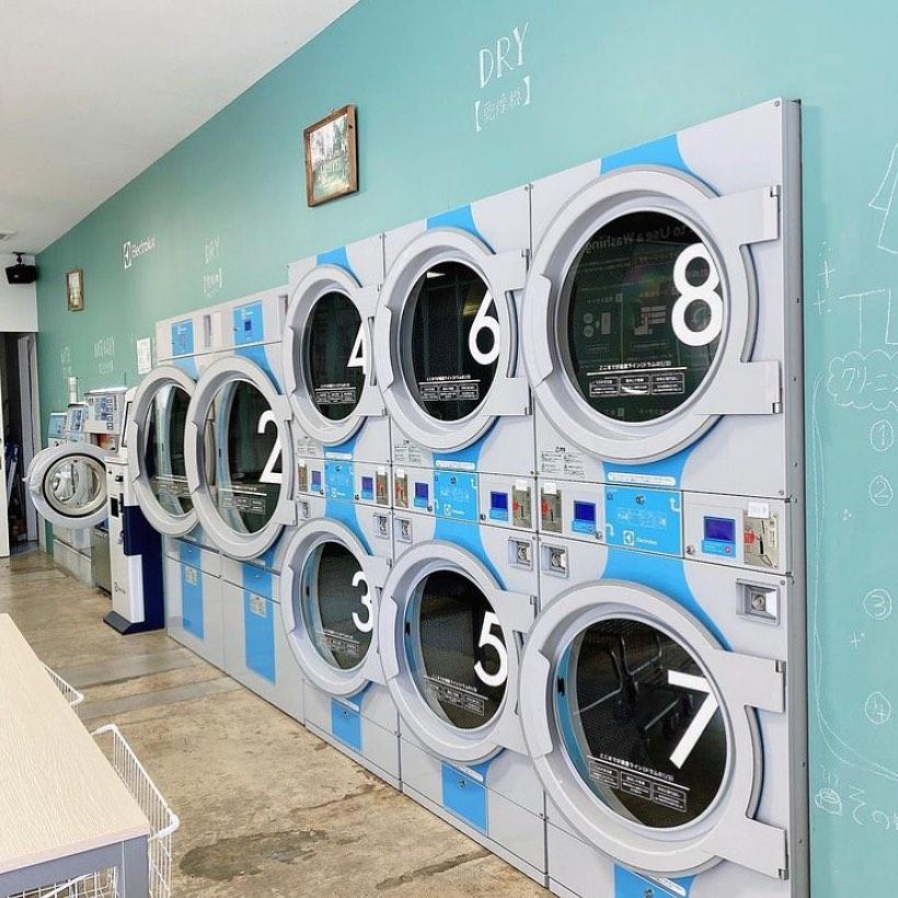 熊本 ザ・ランドリーラウンジ洗濯スペース