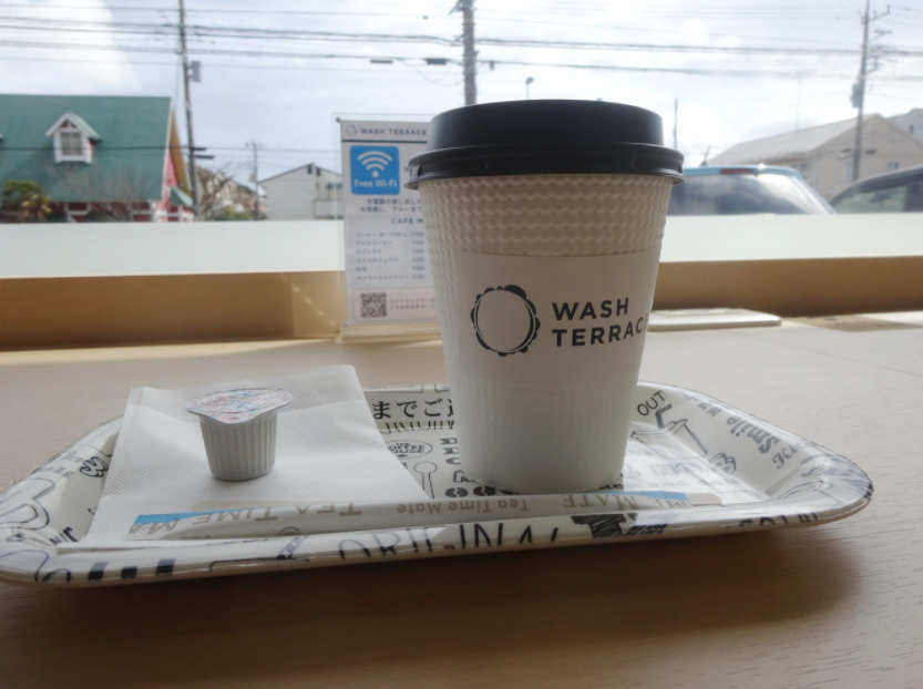 WASH TERRACE湘南台店コーヒー